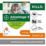 Advantage II Flea Treatment and Prevention for Small Cats, 5-9 Pounds