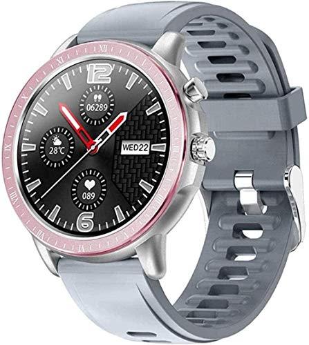 JSL Reloj Inteligente Pantalla Táctil Completa Impermeable Fitness Tracker con Ritmo Cardíaco Rastreador de Sueño Podómetro Bluetooth SMS Notificación de Llamada-Negro