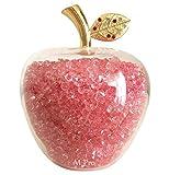 エム プロ(M Pro) 幸せ を 招く 7色 りんご 風水 グッズ 開運 インテリア 雑貨 林檎 オブジェ 幸福 リンゴ 置物 ゴールド クリスタル 金運 (ピンク)