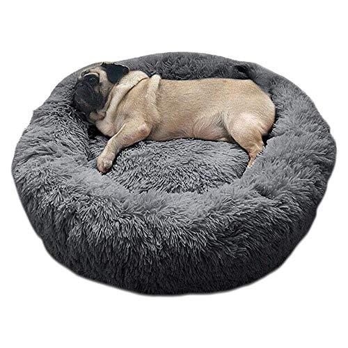Haustierbett Hundebett Katzenbett Rund Weich und Weich für Haustiere/Welpen/Haustier/Katzenbett in Doughnut-Form (60cm)