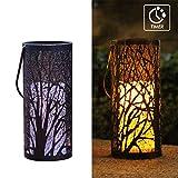 WRalwaysLX Dekorative Laternen mit Timer Kerze Licht Flammenlose Kerzen Innen