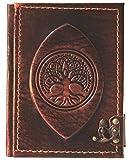 Cuaderno de piel 'Gaia' | Diario, páginas en blanco | Medieval |...