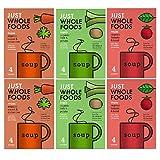 Just Wholefoods Sopa orgánica vegana - 68 g - Mezcla de 3 sabores (paquete de 6)