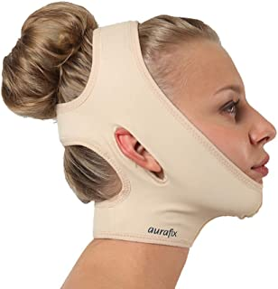 Post Surgical Chin Strap Bandage for Women - Neck and Chin Compression Garment Wrap - Face Slimmer, Jowl Tightening, Chin Lifting Medical Anti Aging Mask (Large)