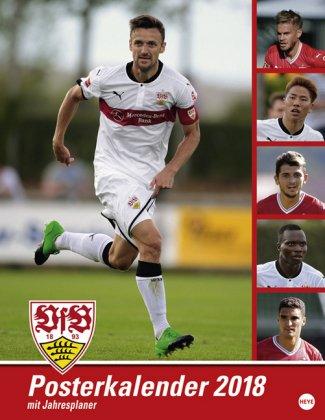 VfB Stuttgart Posterplaner - Kalender 2018 - Heye-Verlag - Wandkalender mit Spielergeburtstagen - 34 cm x 44 cm