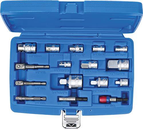 BGS 6779   Bit-Adapter- / Steckschlüssel-Adapter-Satz   16-tlg.