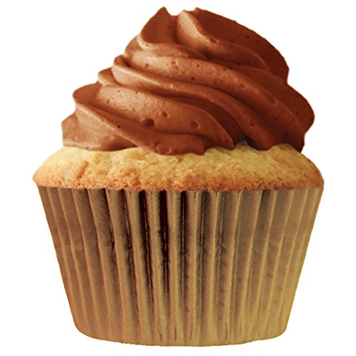 Cupcake Creations Jumbo Baking Cups-Gold 24/Pkg, Other, Multicoloured, 6.35 x 10.41 x 20.32 cm