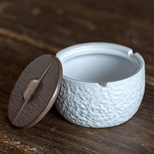 YAeele Decoraciones del Arte del Arte Cenicero Oficina Sala de la Personalidad de cerámica de múltiples Funciones con Tapa casa 2