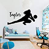Volleyball Wall Decal - Personalized Vinyl Decor For Girl's Bedroom or Playroom - Sports Decorations