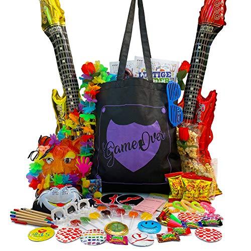 PartyStore24 GameOver Tasche inkl. 70 Teile Füllung für Junggesellenabschied Hochzeit JGA
