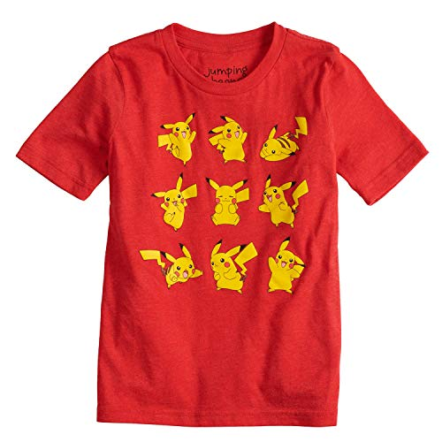 Jumping Beans Boys 4-10 Pokemon Pikachu Poses Graphic Tee 7 Red Heather