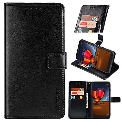 BellaHülle TCL Plex Handyhülle Hülle Leder Flip Hülle [Kartenfach] [Standfunktion] [Magnetschnalle] Wallet Cover für TCL Plex Smartphone(Schwarz)