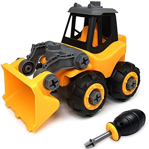 Product Image of the WisToyz Take Apart Toys Toddler Toys, Assembly Toy Bulldozer with Constructions...