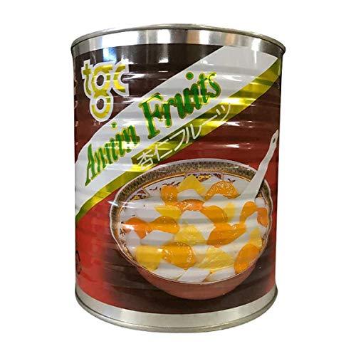 【常温】 天狗缶詰 杏仁フルーツ 3kg 1号缶 業務用 シロップ漬け デザート 杏仁豆腐