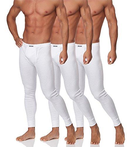 Timone Herren 3er Pack Lange Unterhose TISS003 (Weiß, L)