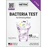Coliform Bacteria Test Kit for Drinking Water - Easy to Use 48-Hour Water Quality Testing Kit for Home Tap & Well Water | EPA Approved Testing Method | Made in The USA | Incl. E Coli | 2-Pack