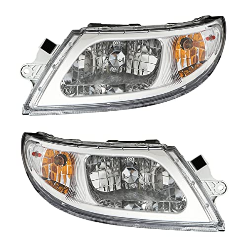High Soar Headlights Assembly for International 4200 4300 4400 4900 Truck ‖ 2002-2018 International 4300 Headlight Headlamp Pair, Passenger & Driver Side