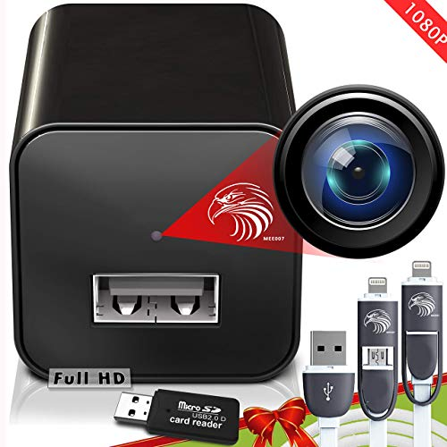 Spy Camera Charger | Hidden Camera | Premium Pack | Mini Spy Camera 1080p | USB Charger Camera | Hidden Spy Camera | Hidden Nanny Cam | Hidden Spy Cam | Hidden Cam | Surveillance Camera Full HD (Renewed)