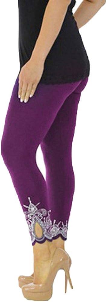 F_Gotal Yoga Pants Printed Running Leggings Capris Yoga Capris for Fitness Riding Running High Waist Tummy Control Tight