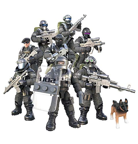 YEIBOBO ! Special Forces Mini Action Figure with Military Weapons and Accessories (Flying Tigers Team XJ-822)