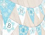 POP parties Snow Princess Birthday Banner - Winter Birthday Banner
