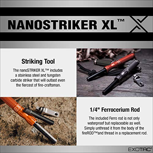 Product Image 6: EXOTAC – nanoSTRIKER XL Self-Contained Ferrocerium Firestarter for Emergency Survival Equipment, Camping, Backpacking, and Hiking (Olive Drab)