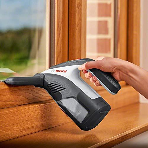 Bosch Akku Fenstersauger GlassVAC (für Fenster, Spiegel und Dusche, Laufzeit: ca. 35 Fenster, im Karton)