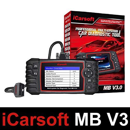 iCarsoft MB V3.0 – Maleta de diagnóstico para coche Pro compatible con Mercedes Sprinter y Smart – Herramienta de diagnóstico profesional