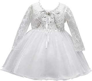 KRUIHAN Wedding Party Birthday Christening Toddler Girl Dress Newborn Baptism Gown