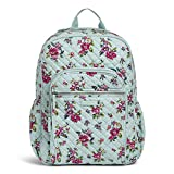Vera Bradley Women's Signature Cotton Campus Backpack, Water Bouquet, One Size