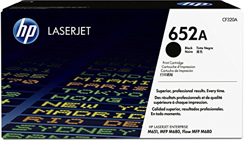 HP 652A (CF320A) Schwarz Original Toner für HP Color Laserjet Enterprise M651, HP Color Laserjet Enterprise M680