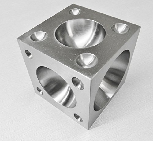 """Steel Dapping Block 2"""" Square Cube Punch and Form Dome Jewelry Making Bench Tool"""