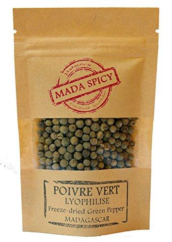 """Pepe verde in grani """"liofilizzato"""" di Madagascar 250g. Primissima qualità. Bustina richiudibile."""