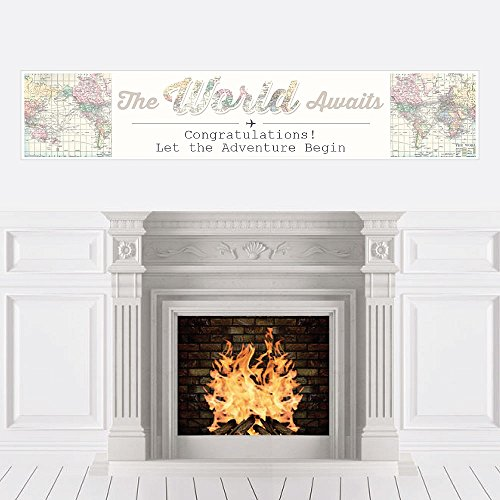 Big Dot of Happiness World Awaits - Travel Themed Party Decorations Party Banner