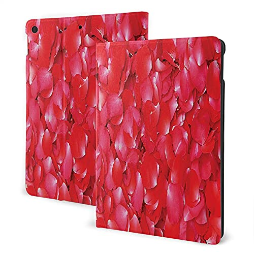 Case For iPad 8/7 ( 2020/2019 Model, 8th / 7th Gen), iPad Air3 & Pro Print Theme - Roses Decorations Collection Rose Petals Perfume Aroma Gardening Marriage Birthday Celebration Theme Red