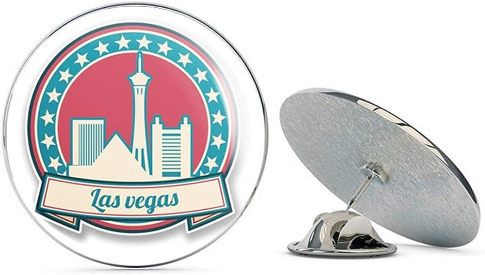 Las Vegas Nevada USA Round Metal 0.75