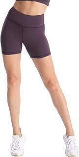 "Hopgo Women's 4"" Training Bike Shorts High Waist Worktout Shorts Tummy Control Yoga Shorts Tight Inner Pocket"