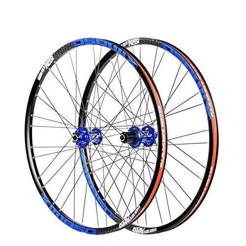26'/27.5' MTB Bike Wheel Set, Disc Rim Brake Mountain Bike Front Wheel Rear Wheel Double Wall Rims Fast Release 32 Holes for Shimano or Sram 8 9 10 11 Speed 100mm 135mm