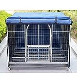 Hcyai Mascota Perro Enjaulado Jaula A Prueba De Viento De Lluvia del Perro Jaula De Guardapolvos Invierno Mascota Caliente Tienda De Campaña,Azul,3XL(126 * 96 * 111cm)
