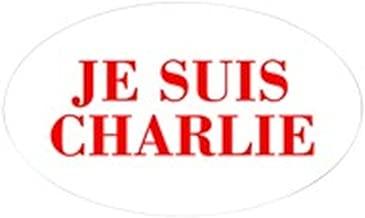 CafePress Je Suis Charlie-BOD Red Sticker Oval Bumper Sticker, Euro Oval Car Decal