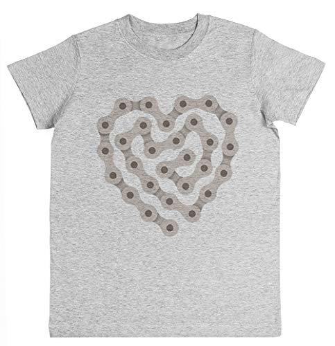 Rundi Amor Ciclismo Unisexo Niño Niña Camiseta Gris Tamaño XS - Unisex Kids Boys Girls's T-Shirt Grey