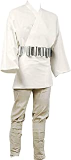 Mens Halloween Luke Skywalker Uniform Cloth Tunic Outfit for Jedi Costume Two Versions
