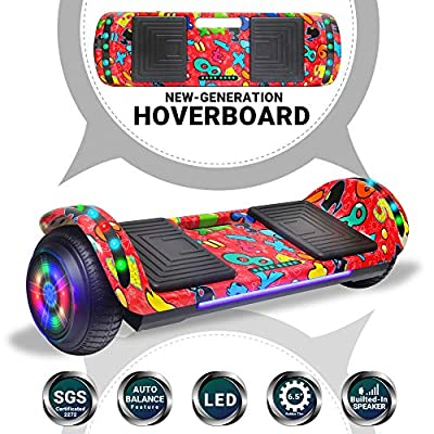 Beston Sports Newest Generation Electric Hoverboard Dual Motors Two Wheels Hoover Board Smart self Balancing Scooter with Built in Speaker LED Lights for Adults Kids Gift (-Image 3)
