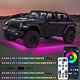 Car Underglow Lights, RGB Underglow Car Lights with Wireless APP Remote Control, 16 Million Colors, Sync to Music, Ultra Long Led Neon Accent Under Glow Kit for Cars, SUVs, Trucks, DC 12V