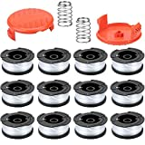 PUTING 12 PCS Line String Trimmer Spool Replacement 30ft 0.065' Auto Feed for Black & Decker