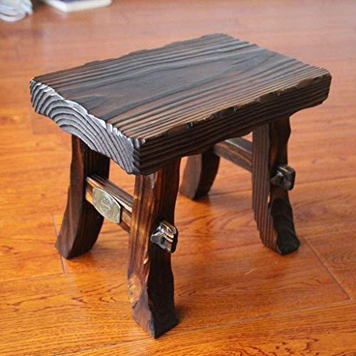 WCJ Thicken retro houten bank thuis salontafel kruk bank stoel woonkamer deur verandering schoen bank verdikking volwassen kleine bank bank bank bank bank