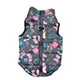 Howstar Pet Camouflage Cold Weather Coat, Small Dog Vest Harness Puppy Winter Padded Outfit Warm Garment (M, Black)