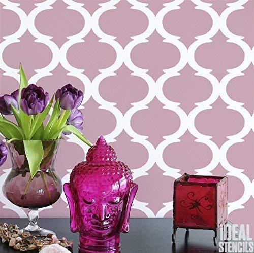Marokkanische Vierpass Muster Dekor Schablone | Heim Wand Dekorieren Kunst & Handwerk Schablone | Farbe Wände Stoffe & Möbel | 190 Mylar Wiederverwendbare Schablone