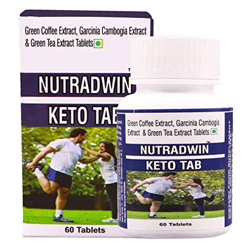 NUTRADWIN Keto Tablet Ultra Weight Loss Fat Burner Supplement with (Green Tea Extract + Garcinia Cambogia Extract + Green Coffee Extract) Extract 1000Mg (60 TABLETS)