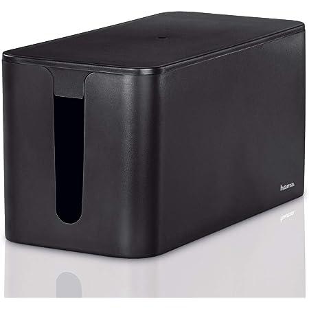 Hama Kabelbox Mini Mit Deckel Gummifüßen Organizer Zur Vermeidung Von Kabelsalat Aufbewahrungsbox Zum Verstecken Von Steckdosenleisten Adaptern Kabeln Schutz Von Kindern Tieren Schwarz Baumarkt